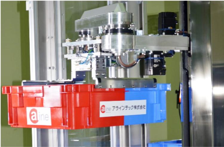 番重・小型コンテナ移載用4軸ロボット